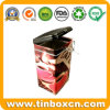 Square Airtight Coffee Tin Container for Food Tin Box Packaging