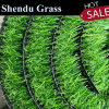 4-Tone PP Material Fake Grass Carpet 35mm with 120 Stitch Per Meter