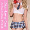 3PCS School Girl Bedroom Costume