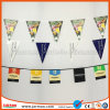 Holiday Decoration Flags Promotional Polyester Triangle Flag String Flag PVC Paper Bunting Advertising Flag