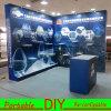Custom Portable Modular DIY Aluminium Trade Show Exhibition Display Stand with Shelves