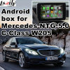 Android GPS Navigation System for Mercedes Benz C Class W205 Ntg 5.0 Video Interface