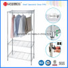 Adjustable 3 Tiers Chrome Metal Wire Shirt Display Shelves, NSF Approval