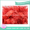 Acrylic Polyester Shiny Red Feather POM-POM Fancy Yarn