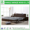 2015 New Style Black Double Wooden Furniuture Bed Frame