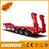 China Strong Detachable Gooseneck 100 Ton Lowbody Lowbed Truck Semi Trailers