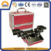 Beauty Case Crocodile Print Red Aluminum Cosmetic Case with Trays (HB-2209)
