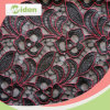 Red and Black Color Net Lace Embroidery Curtain Lace Fabric