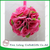 Hot Sale Different Sizes Silk Fashion Rose Flower Ball for
