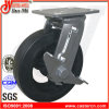 6 Inch Best Price Rubber Swivel Caster with Side Brake