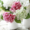Artificial Latex Hydrangea Flowers for Home Wedding Decoration