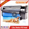 High Quality 512I Heads Funsunjet Fs-3208K Solvent Printer with 10FT Printing Size (720dpi, CMYK 4 colors, flex banner, printmon)