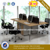 Guang Dong Standing Workstation Oak Color Office Partition (UL-MFC583)