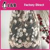 New Arrival Elegant 3D Embroidery Flower Pattern Fabric for Wedding Dress Full Dress Skirt