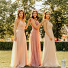 Colorful Wedding Party Prom Dress Long Chiffon Bridesmaids Dresses Yao178