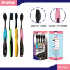 Adult Toothbrush with Soft Black Bristles 4 in 1 Economy Pack 896-2