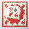 Disposable Party Paper Dinner Napkin with Santa Claus Printed