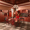 Antique Chinese Red Solid Wood Kitchen Cabinets (OP13-013)