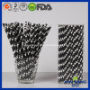 Bar Party Decoration Black White Dots Paper Straw