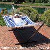 Outdoor Garden Leisure Quilted Cotton Padded Double Portable Camping Hammock Swing Bed with Frame Steel Stand