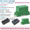 DIN Rail-Mounting PT100 PT1000 to 4-20mA 0-5V Voltage Signal Transducer