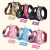 Fashion Cotton Harness Knitting Stripes Printing Pet Leads