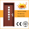 Wholesale Single Glass Door Interior PVC Doors (SC-P059)