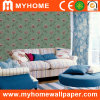 Waterproof Vinyl Wallcovering with Floral Decoration