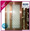 Security Stainless Steel Door with Glazing Trim in SUS304 (ES-7017)