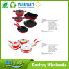 9 Piece Stainless Steel or Aluminum Nonstick Cookware Set