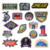 English Words Badge Clothing Patch with Road Sign for Garment Accessories Patch