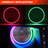 New LED Car Light APP Controlled LED Headlights Halo Color Chasing DRL Daytime Running Ring Illuminated Colorshift Dynamic Lights