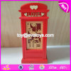 New Design Lovely Toy House Shape Wooden Kids Money Box W02A268