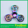 Fs007 Hottest Big Three Round Zinc Alloy Tri-Bar Fidget Spinner for Wholesale Gift