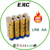 Shrink Package 1.5V Lr6/AA Alkaline Battery Lr6/ AA Battery
