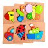 Wholesale 3D Children DIY Creative Wooden Colorful Puzzle