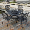 Outdoor Furniture Cast Aluminum Dining Table and Chair for BBQ