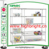 Chrome Finish Multi-Purpose 6 Layer Household Wire Shelving