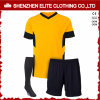 Customized Blue and White Soccer Uniform Kits for Clubs