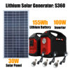 100W Inverter Generator Solar Home Lighting System with LED Bulbs