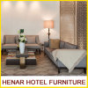 Wooden Frame Grey Linen Couch Sofa Set for Hotel Resort