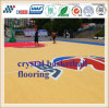 Cn-S04 Cyrstal Basketball Court Flooring Surface with Wood Texture