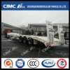 Cimc 3axle Straight-Beam Lowbed/Lowboy Semi Trailer with Spring Ramp