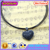 Fancy Black Heart Shape Crystal Necklace 14917