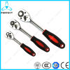 Anti-Slip Rubber Handle 72 Teeth Ratchet Handle Wrench