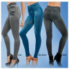 Wholesale TV Slim Jeggings Women Stretch Leggings Printed Jeans Legging with Pockets