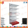 White Customized Supermarket Steel Hole Back Wall Display Shelving (Zhs568)