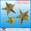 3D Star Lapel Pin Gold Start Badge with Butterflu Clutch