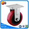 Heavy Duty Fixed 5 Inch Red PU Industrial Wheel Casters