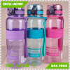 Big Capacity Plastic Water Bottle with Clock BPA Free